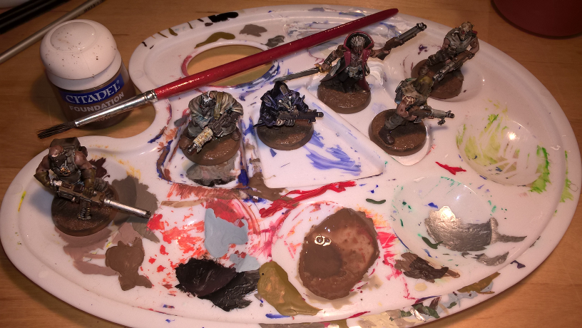 Warhammer 40k - Chaos Kultisten - Bases bemalen
