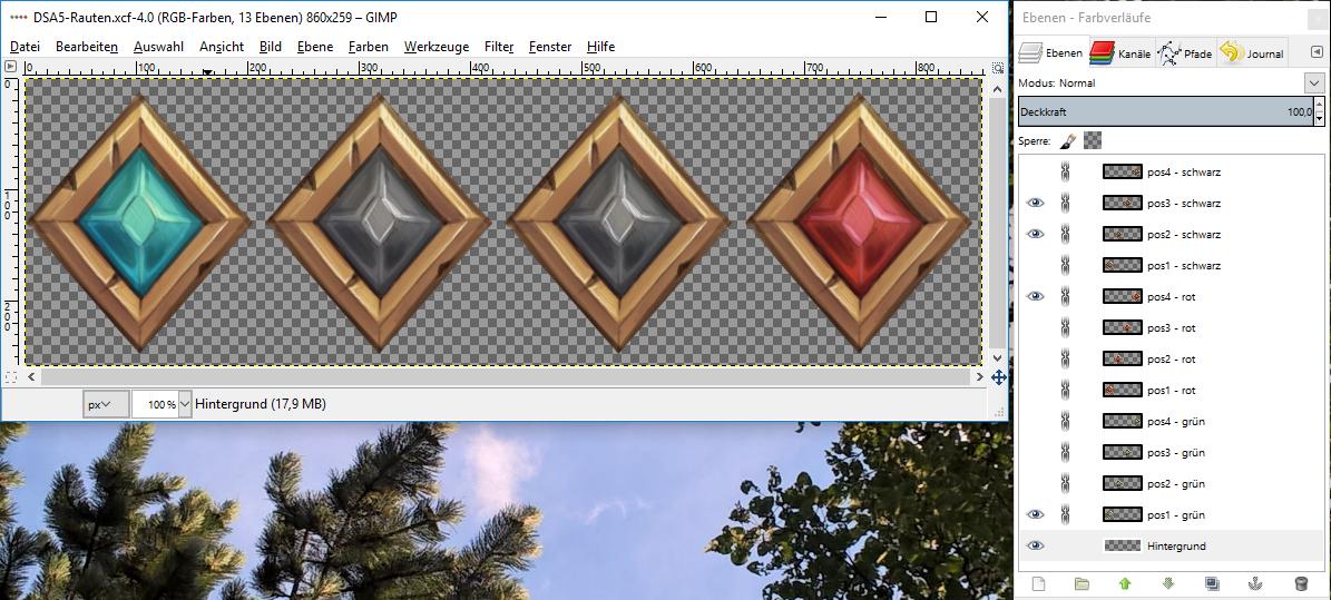 DSA5-Rauten als GIMP-Grafikdatei