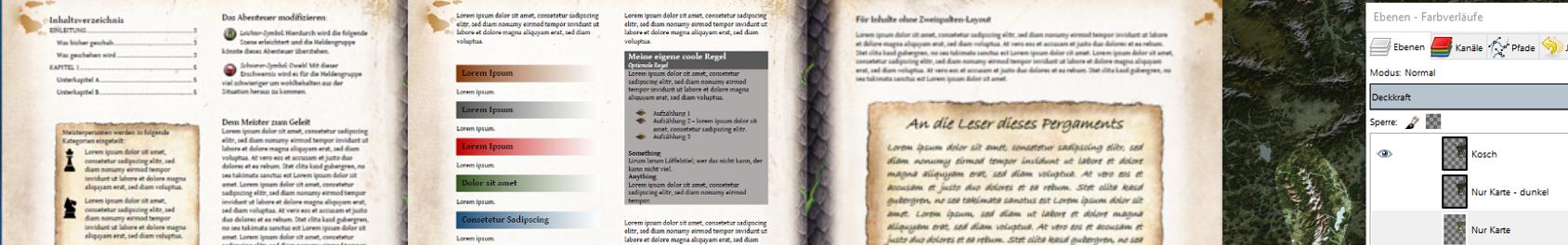 Scriptorium Vorlagen Paket 1-2 Teaser