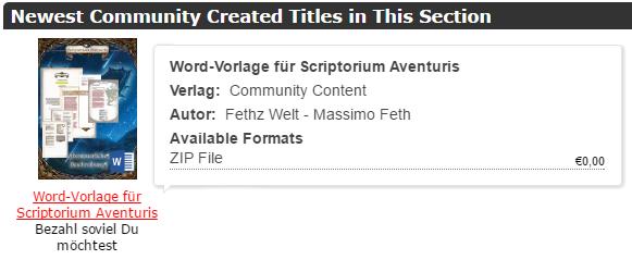 Scriptorium Aventuris - Word Vorlage