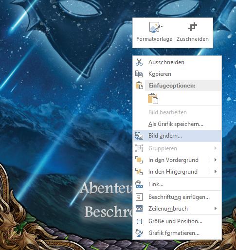 Scriptorium Aventuris - Word-Vorlage - Coverbild austauschen
