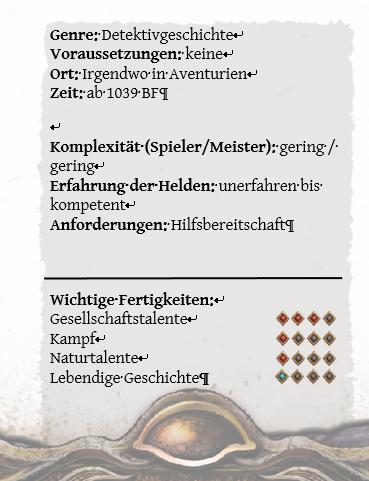 Scriptorium Aventuris - Word-Vorlage - Rückseite