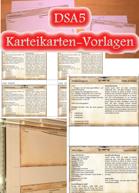 Scriptorium Aventuris - DSA5-Karteikarten-Vorlagen